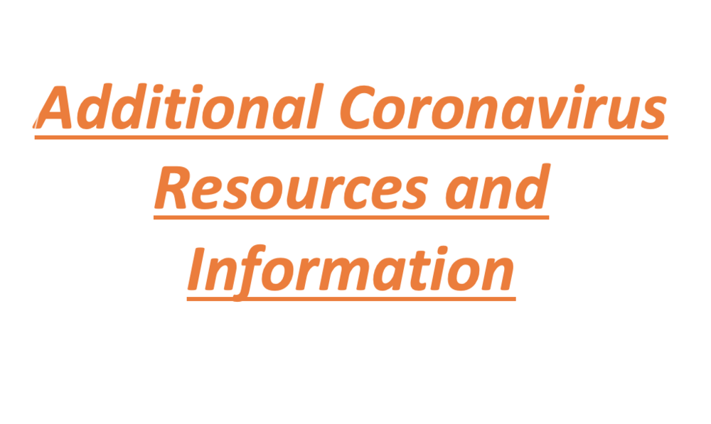 Additional Coronavirus  Resources