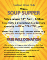 Lions Club Soup Supper