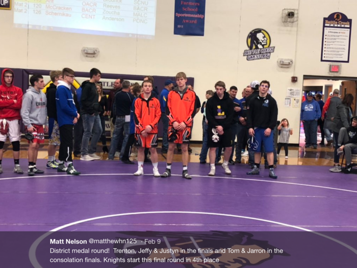 District Wrestling Consolation Round
