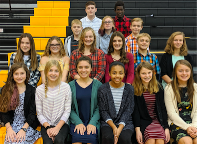 2019 Fremont JH Honor Choir Participants