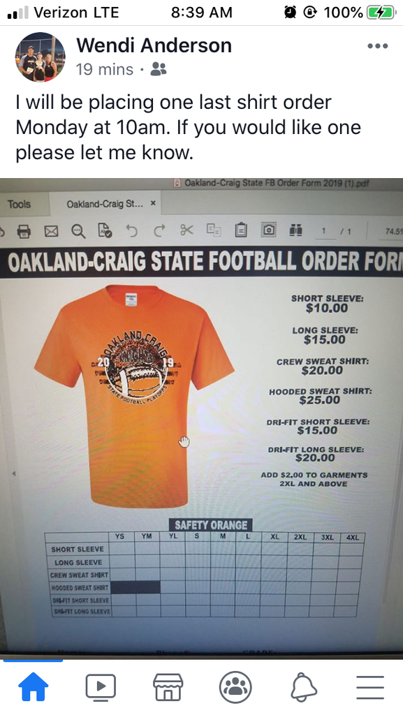 State Football Shirt Reorder