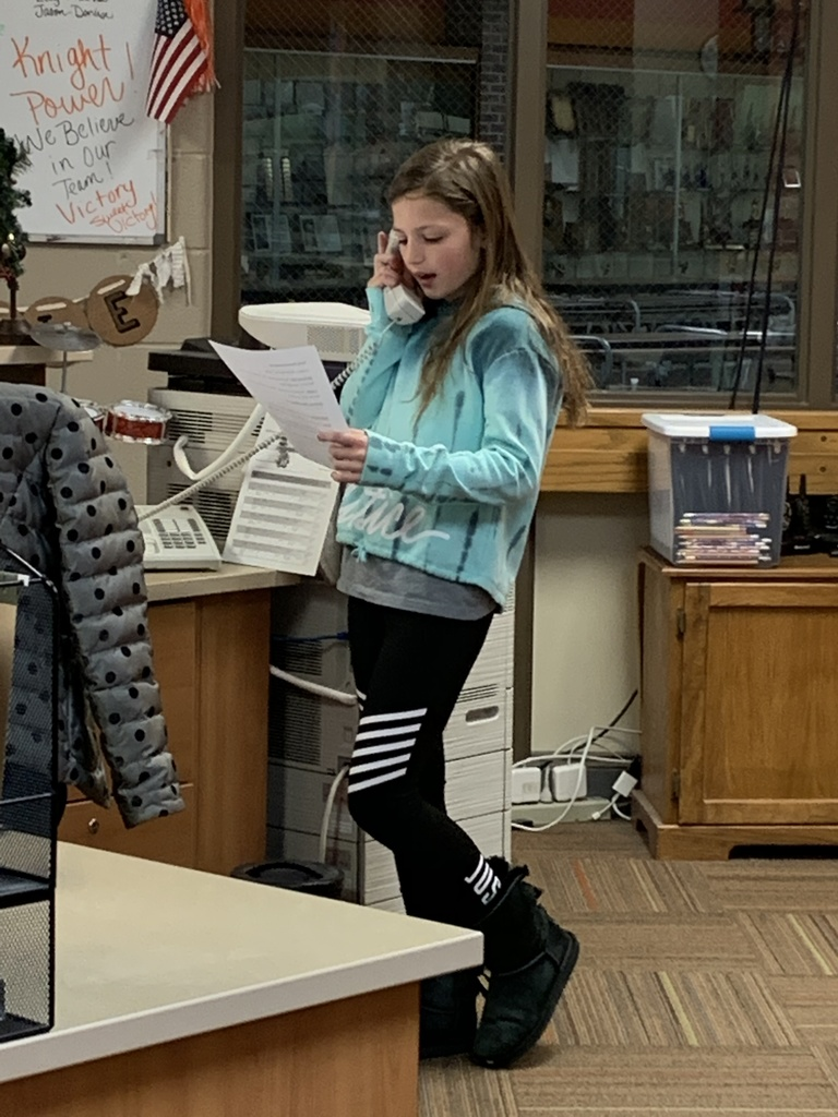 Hilary R. gives the announcements today!