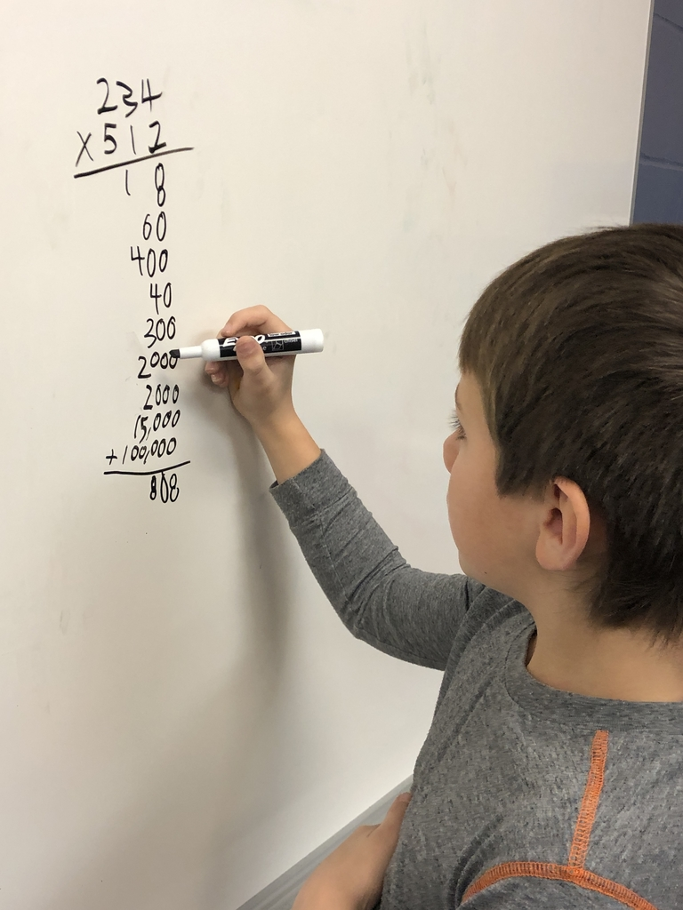 Multiplying with partial products and place value understanding....this kid knows what he's doing folks!