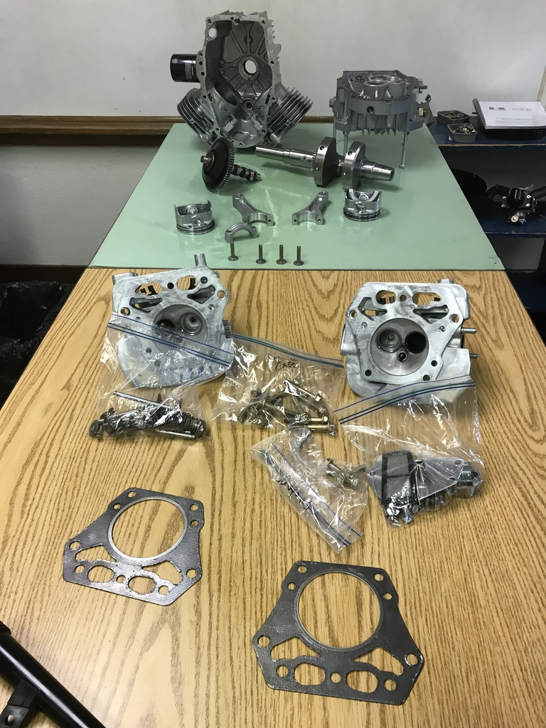 Disassembled engine