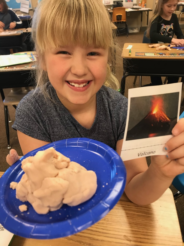 Creating landforms with play dough