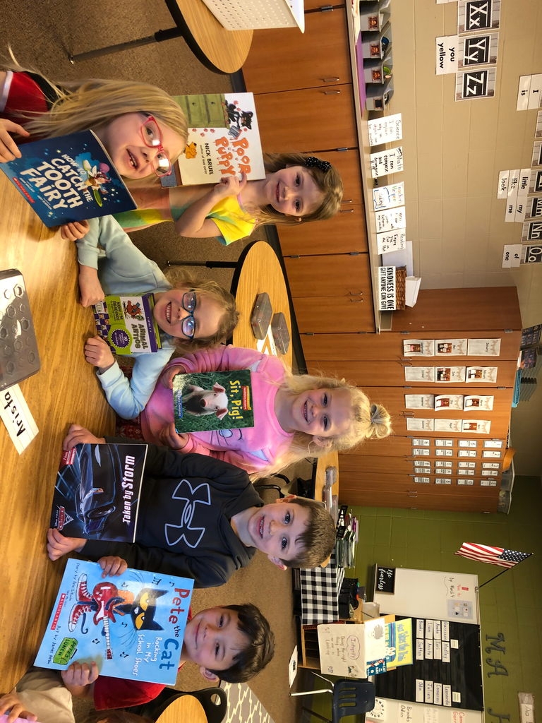 Kindergarten kids picked out a book at our school BOOK SWAP, for Read Across America Week!