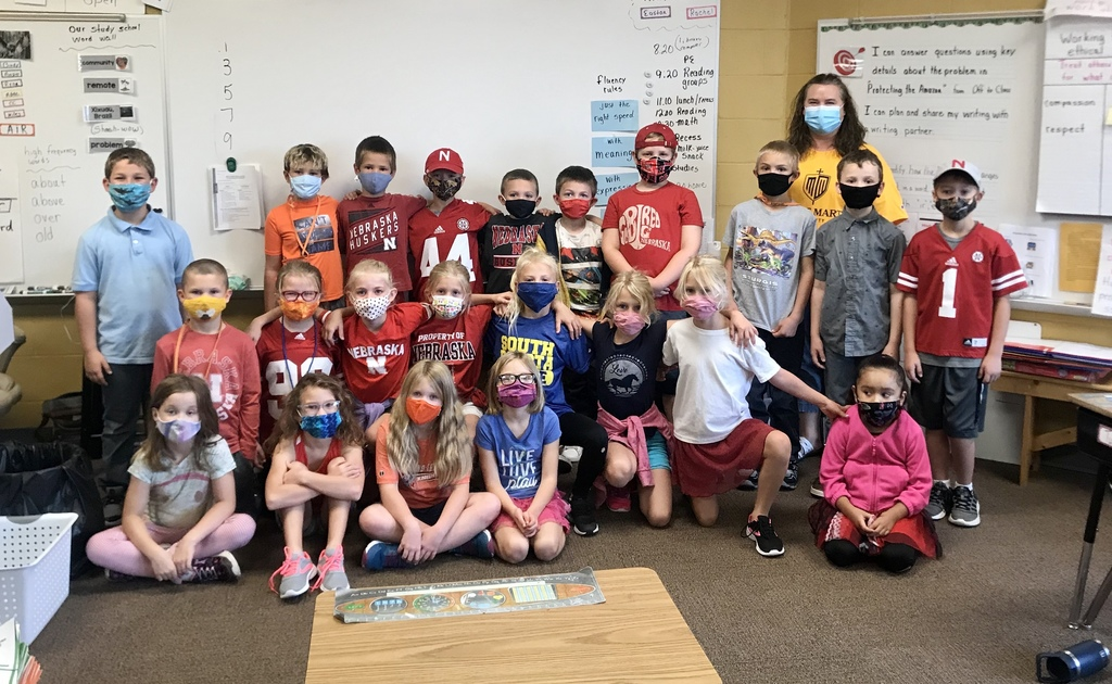 Second Graders dressed for their favorite University